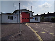 ST0107 : Cullompton fire station in Tiverton Road by Rob Purvis