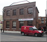 ST3049 : Royal Mail van outside Burnham-on-Sea post office  by Jaggery