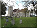 TM1350 : St.Mary & St.Peter's Church, Barham by Adrian Cable