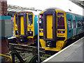 SJ4912 : Arriva trains at Shrewsbury by John Lucas