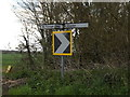 TM1449 : Roadsigns on Church Lane by Adrian Cable