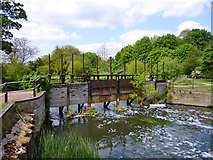 TL3808 : Old sluices, Dobb's Weir by Robin Webster