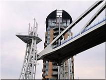 SJ8097 : Lowry Bridge Deck Raised by David Dixon