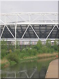 TQ3783 : West Ham United branding appears on the Olympic Stadium by Christopher Hilton