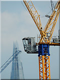 TQ3179 : Crane and the Shard by Stephen McKay