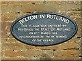 SK8101 : Village name plaque, Belton-in-Rutland by Alan Murray-Rust