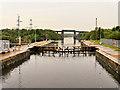 SJ7294 : Irlam Locks, Western Gate by David Dixon