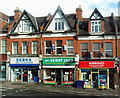 TQ3088 : Shop fronts, Tottenham Lane, Crouch End by Julian Osley