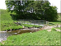 NT9207 : Footbridge over the River Alwin by Russel Wills