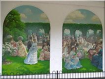 TQ2479 : Murals at Holland Park by Marathon