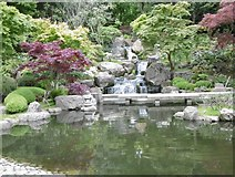TQ2479 : Looking towards the waterfall in the Kyoto Garden at Holland Park by Marathon