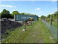 ST9898 : Footpath alongside railway line by Vieve Forward