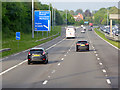 SJ4190 : Eastbound M62 approaching Junction 5 by David Dixon