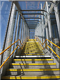 TQ4380 : Stairs at Gallions Reach DLR Station by Des Blenkinsopp