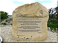 G7574 : Memorial Stone, Bruckless Bay disaster by Kenneth  Allen