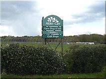 TM0855 : Alder Carr Farm Shop & Deli sign by Adrian Cable