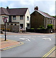 SN7810 : Ildiwch/Give Way sign facing Station Road, Ystradgynlais by Jaggery