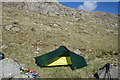 NY2306 : Tent, Yeastyrigg Crags by Michael Graham