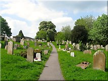 TQ1711 : Public Footpath, St Andrew's Churchyard, Steyning by Simon Carey