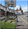SS7596 : Directions sign facing the B4434 Eastland Road, Neath  by Jaggery