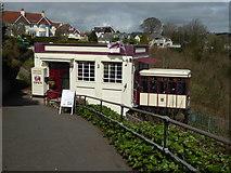 SX9265 : Babbacombe Cliff Railway - happy birthday by Chris Allen