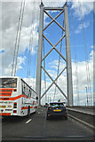 NT1279 : South Queensferry : The Forth Road Bridge, A90 by Lewis Clarke