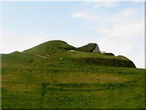 NZ2377 : The profile of Northumberlandia's face by Graham Robson