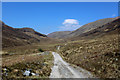 NN1563 : West Highland Way at the Foot of the Mamore Hills (2) by Chris Heaton