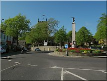SD9951 : Roundabout at the top of Skipton High Street by Stephen Craven