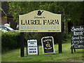 TM1648 : Laurel Farm Garden Centre sign by Adrian Cable