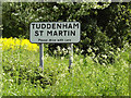 TM1948 : Tuddenham St.Martin Village Name sign by Adrian Cable