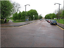 NS6064 : Bus stop on Glasgow Green by David Hawgood