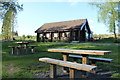 NX3778 : Picnic Tables and Visitor Centre, Glentrool by Billy McCrorie
