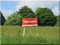 TQ7718 : Vote Leave sign, Sedlescombe Street by Oast House Archive