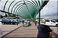 SE1736 : Covered walkway at Morrison's Supermarket by Ian S