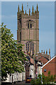 SO5174 : Lower Galdeford and St Laurence's Church by Ian Capper