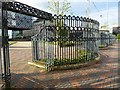 SP0686 : Railings on Centenary Square by Philip Halling