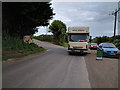 ST7458 : Horse lorry near the riding school by Rob Purvis