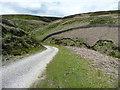SD9634 : Track alongside Walshaw Dean Upper Reservoir, Wadsworth by Humphrey Bolton