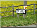 TM1948 : Flynn Lane sign by Adrian Cable