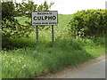 TM2149 : Culpho Village Name sign on Ipswich Road by Adrian Cable