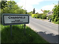 TM2656 : Entering Charsfield on the B1078 by Adrian Cable