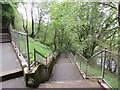 SN7910 : Zigzag path and steps to Pen-y-bryn, Ystradgynlais by Jaggery