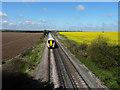 TR2764 : SouthEastern train heading towards Sturry Station by John Baker