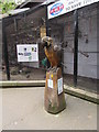 SZ0891 : Wooden Polly outside Bournemouth Aviary by Jaggery