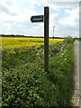 TM1652 : Footpath sign off Clay Lane by Adrian Cable