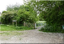 SJ8055 : Alsager: start of the Merelake Way by Jonathan Hutchins