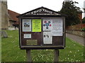 TM1150 : St.Mary's Church Notice Board by Adrian Cable
