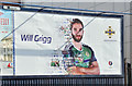 J3473 : Northern Ireland - Euro 2016 poster (Will Grigg), Belfast (May 2016) by Albert Bridge