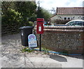 TG3830 : Elizabeth II postbox on The Street, Happisburgh by JThomas